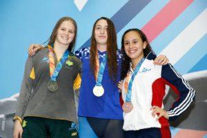 מדליית זהב 200מ' גב במכביה יולי 2017