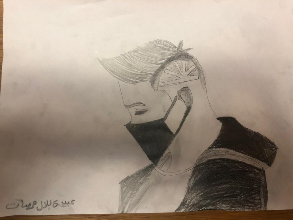 """ציור של תלמיד מבי""""ס סלאמה"""