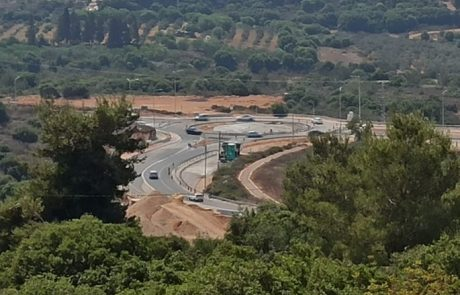 מעגל התנועה החדש בצומת הר שכניה.